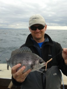 Steve Parsons with black bream