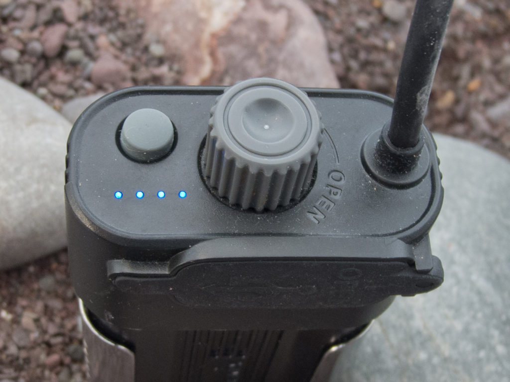 Power indicator on battery pack