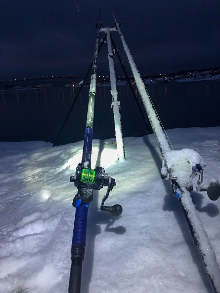 Tough reels under typical Norway winter weather