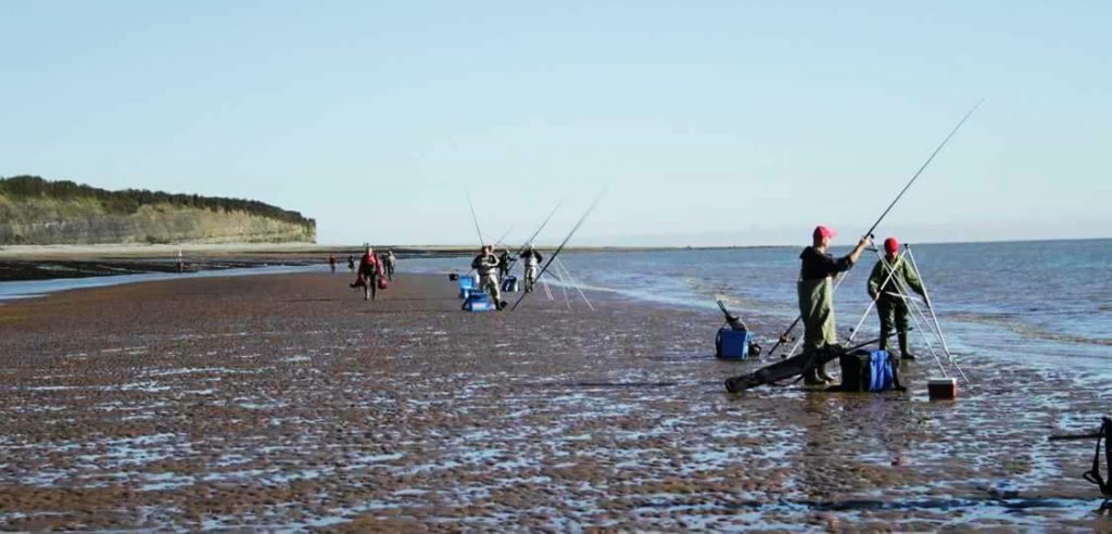 Anglers tackling the Sand Spit
